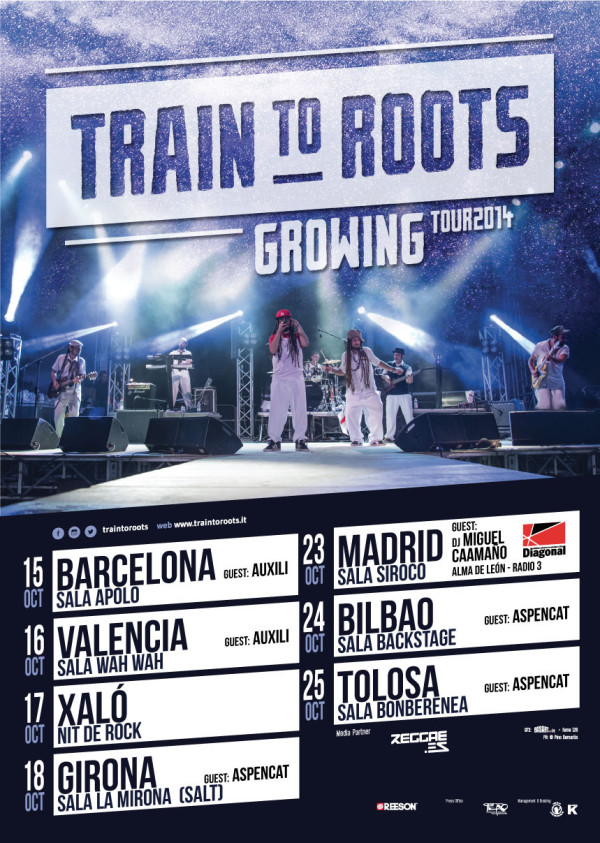 Train to Roots - Growing Tour 2014